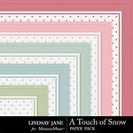 A Touch of Snow Embossed Paper Pack-$1.99 (Lindsay Jane)