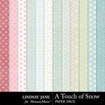 A Touch of Snow Patterned Paper Pack-$1.99 (Lindsay Jane)