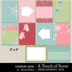 A Touch of Snow Journal Cards-$1.99 (Lindsay Jane)