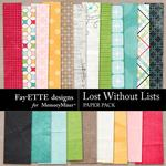 Lost Without Lists Paper Pack-$1.50 (Fayette Designs)