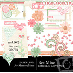 Be Mine Embellishment Pack-$2.99 (Karen Lewis)
