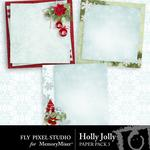 Holly Jolly FP Stacked Paper Pack-$3.49 (Fly Pixel Studio)