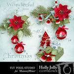 Holly Jolly FP Clusters-$1.99 (Fly Pixel Studio)