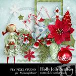 Hollyjolly embellishments small