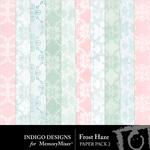 Frost Haze Patterned Paper Pack-$2.99 (Indigo Designs)