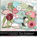 Pure Indulgence Add On Embellishment Pack-$3.49 (Laura Burger)