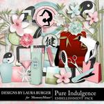 Pure Indulgence Embellishment Pack-$1.40 (Laura Burger)