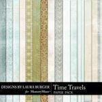 Time Travels Patterned Paper Pack-$3.49 (Laura Burger)