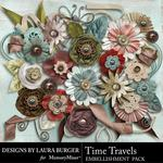 Time Travels Flowers and Leaves-$3.49 (Laura Burger)