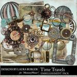Time Travels Embellishment Pack-$3.49 (Laura Burger)