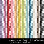 Project Pix Chevron Paper Pack-$1.99 (Lindsay Jane)