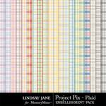 Project Pix Plaid Paper Pack-$1.99 (Lindsay Jane)