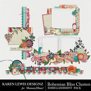Bohemian bliss cluster pack medium