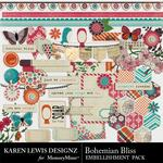 Bohemian Bliss Embellishment Pack-$2.99 (Karen Lewis)