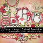 Animal Attraction Basics Embellishment Pack-$3.49 (Fayette Designs)