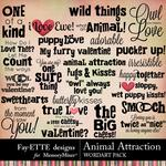 Animal Attraction WordArt Pack-$3.49 (Fayette Designs)