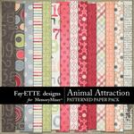 Animal Attraction Patterned Paper Pack-$3.99 (Fayette Designs)