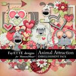 Animal Attraction Embellishment Pack-$3.49 (Fayette Designs)