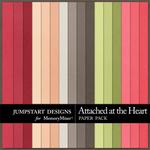 Attached at the Heart Plain Paper Pack-$2.49 (Jumpstart Designs)