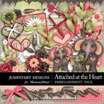 Attached at the Heart Embellishment Pack-$3.49 (Jumpstart Designs)