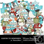 Winter Penguins Embellishment Pack-$3.49 (Albums to Remember)