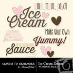 Ice Cream WordArt Pack-$2.99 (Albums to Remember)