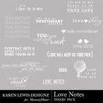 Love Notes KL Inkers Pack-$1.99 (Karen Lewis)