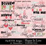 Happy In Love WordArt Pack-$2.49 (Fayette Designs)