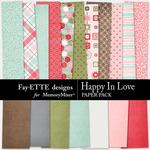 Happy In Love Paper Pack-$3.99 (Fayette Designs)