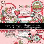 Happy In Love Embellishment Pack-$3.49 (Fayette Designs)