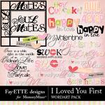 I Loved You First WordArt Pack-$3.49 (Fayette Designs)