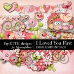 I Loved You First Embellishment Pack-$3.49 (Fayette Designs)