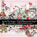 Cupid Rhymes with Stupid Embellishments Pack-$3.49 (Fayette Designs)