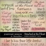 Attached at the Heart WordArt Pack-$2.99 (Jumpstart Designs)