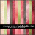 Attached at the Heart Blended Paper Pack-$1.75 (Jumpstart Designs)