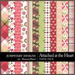 Attached at the Heart Patterned Paper Pack-$3.49 (Jumpstart Designs)
