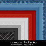 Ice Hockey Embossed Paper Pack-$1.99 (Lindsay Jane)