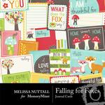 Falling For Foxes Journal Cards-$1.99 (Melissa Nuttall)