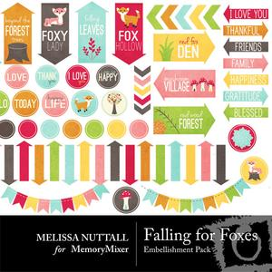 Falling for foxes embellishment pack preview medium
