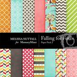 Falling For Foxes Paper Pack 2-$1.99 (Melissa Nuttall)