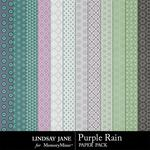 Purple Rain Pattern Paper Pack-$1.00 (Lindsay Jane)