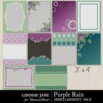 Purple Rain Journal Cards-$1.00 (Lindsay Jane)