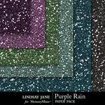 Purple Rain Glitter Paper Pack-$1.00 (Lindsay Jane)