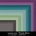 Purple Rain Embossed Paper Pack-$1.00 (Lindsay Jane)
