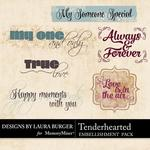 Tenderhearted WordArt Pack-$1.99 (Laura Burger)