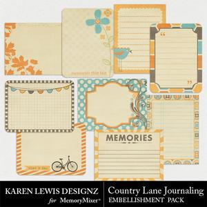 Country lane journal pack medium