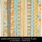 Country Lane Paper Pack-$3.99 (Karen Lewis)