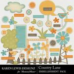 Country Lane Embellishment Pack-$2.99 (Karen Lewis)