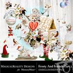 Frosty and Friends Embellishment Pack 2-$3.49 (MagicalReality Designs)