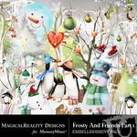 Frosty and Friends Embellishment Pack 1-$3.49 (MagicalReality Designs)